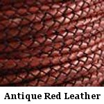Antique Red Braided Leather Bolo Cord