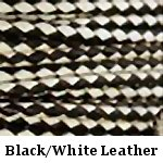Black & White Braided Leather Bolo Cord