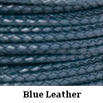Blue Braided Leather Bolo Cord