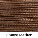 Bronze Braided Leather Bolo Cord