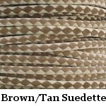Brown & Tan Suede Bolo Cord