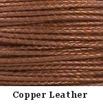 Copper Braided Leather Bolo Cord