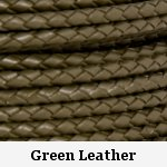 Olive Green Braided Leather Bolo Cord