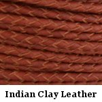 Indian Clay Braided Leather Bolo Cord