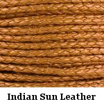 Indian Sun Braided Leather Bolo Cord