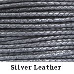Silver Braided Leather Bolo Cord