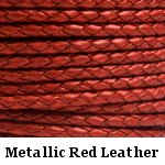 Metallic Red Leather Bolo Cord
