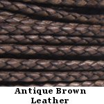 Natural Antique Brown Leather Bolo Cord