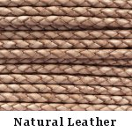 Natural Braided Leather Bolo Cord