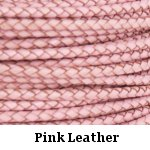 Pink Braided Leather Bolo Cord