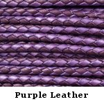 Purple Braided Leather Bolo Cord