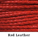 Red Braided Leather Bolo Cord