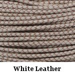 White Braided Leather Bolo Cord