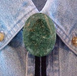 Naked African Jade Bolo Tie