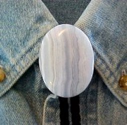 Naked Blue Lace Bolo Tie