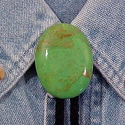 Naked Mojave Green Turquoise Bolo Tie