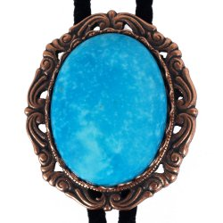 Turquoise Antique Scroll Bolo Tie