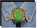 Mojave Green Turquoise Antique Design Bolo Tie