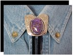 Mojave Purple Turquoise Classic Cowboy Bolo Tie