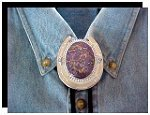 Mojave Purple Turquoise Horseshoe Design Bolo Slide