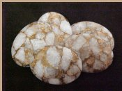 White Calcite Cabochons