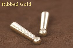 Ribbed Gold Bolo Tips