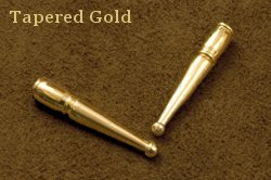 Tapered Gold Bolo Tips