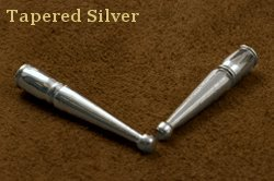 Tapered Silver Bolo Tips