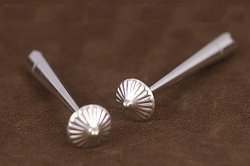 Sterling Silver Hogan Style Bolo Tips